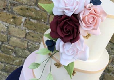 3 Tier Floral Wedding Cake